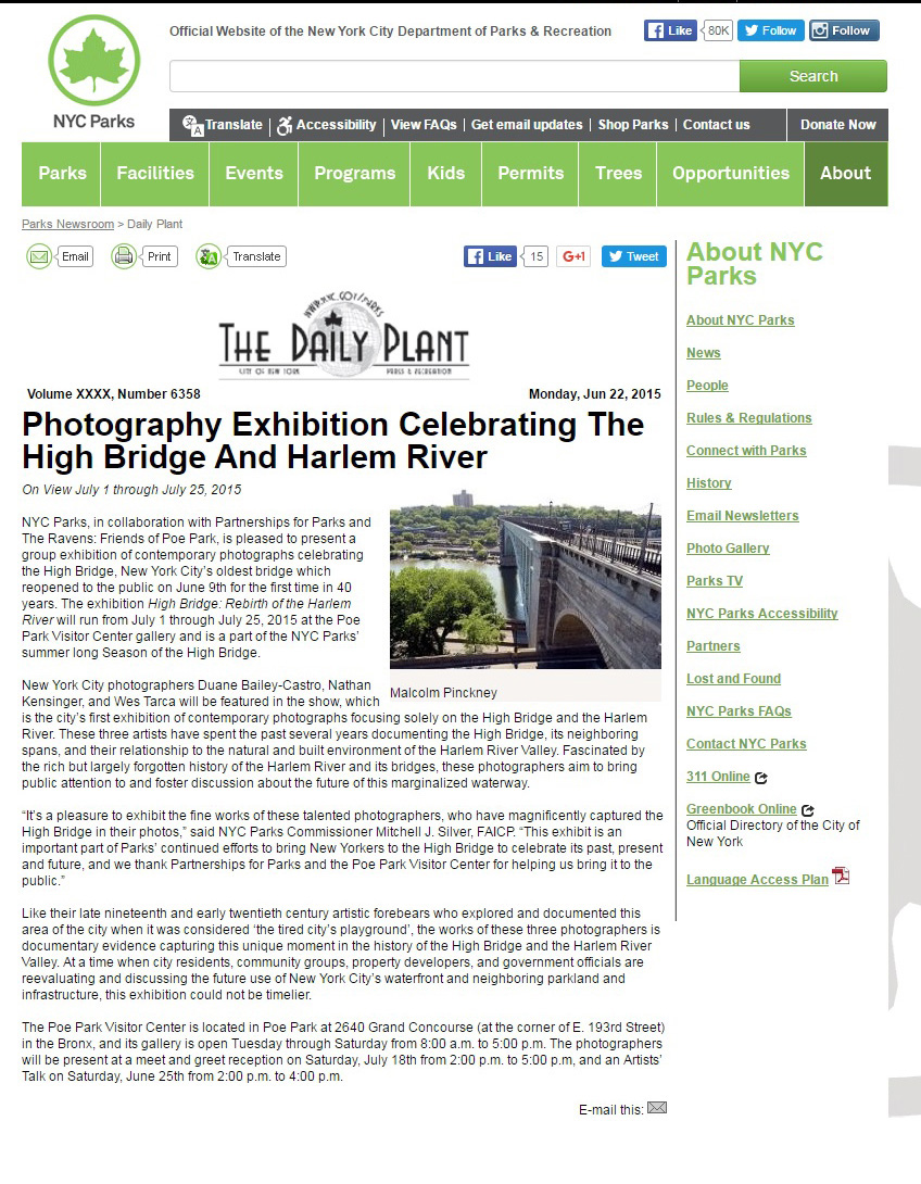 NYC Parks Poe Park Exhibit 6-22-15